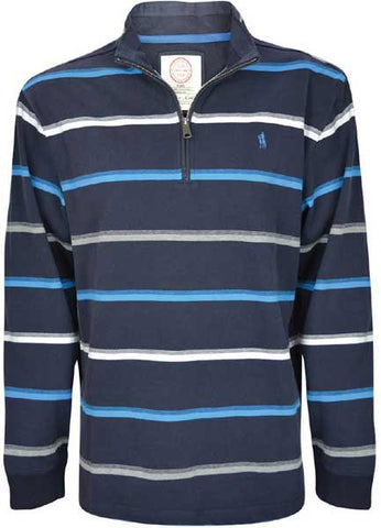 Thomas Cook Mens 'Corey' Stripe 1/4 Zip Neck Rugby (T7W1524019)