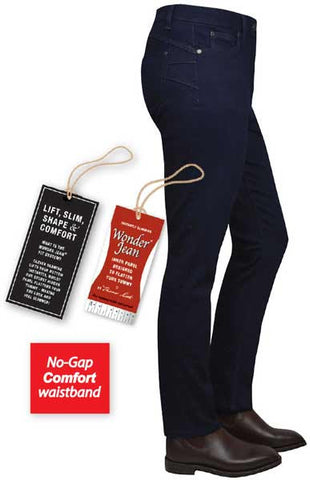 "Thomas Cook Womens 'Midnight' Slim Leg Wonder Jean® (T7W2201071) - 28"" Leg"