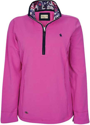 *Thomas Cook Womens 'Rachael' Classic 1/4 Zip Neck Rugby (T7W2511032)