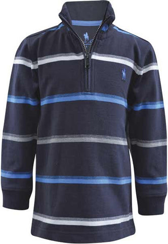 *Thomas Cook Boys 'Corey' Stripe Zip Rugby (T7W3513019)