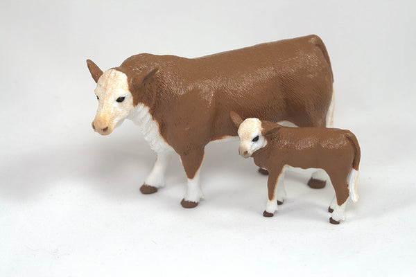 Big Country Toys - Hereford Cow & Calf (403)