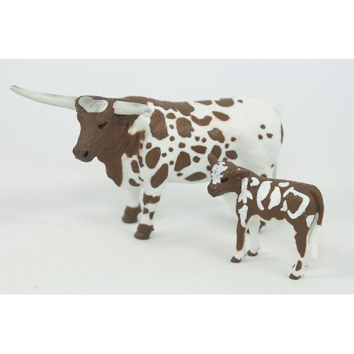 Big Country Toys - Longhorn Cow & Calf (405)