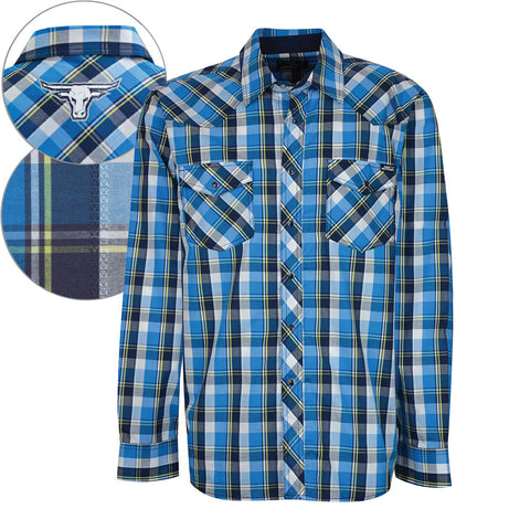 Pure Western Mens 'Bronson' Check L/S Shirt (P7S1100083)