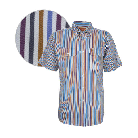 Thomas Cook Mens 'Parafield' Stripe S/S Shirt (T7S1110016)