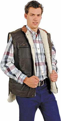 Outback Trading 'Flemington' Wool Lined Vest (6131)