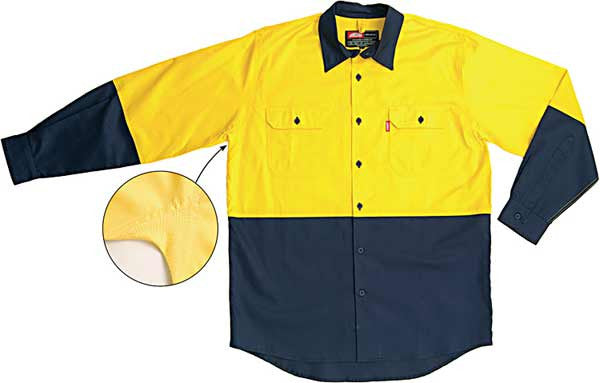 Jonsson Work Shirt Lightweight Vented Two Tone Long Sleeve  (G1023)