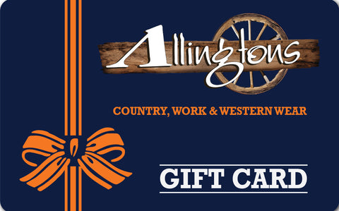 Allingtons Instore Only Gift Card
