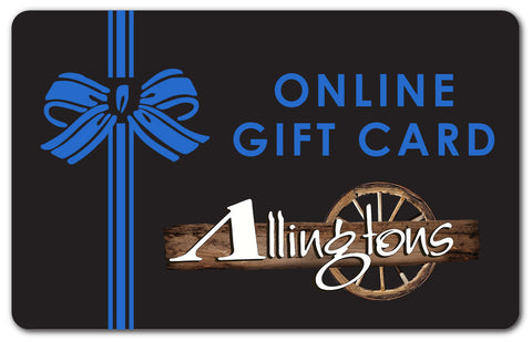Allingtons Online Only Gift Card