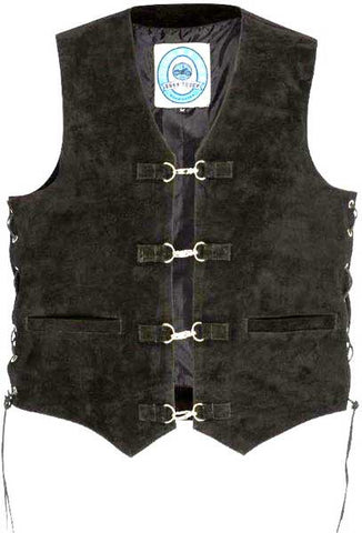 Johnny Reb 'Longreach' Suede Leather Vest (JRV10004)