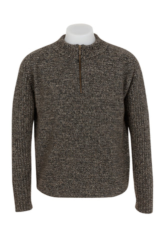 *MKM Mens Mount Rib & Plain Zip & Collar Sweater (MS1433)