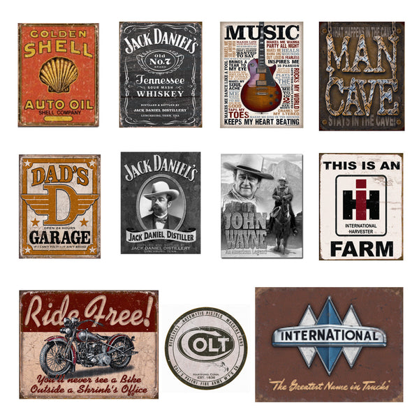 Tin Signs - Assorted Large