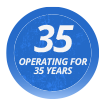 Operating for 35 years