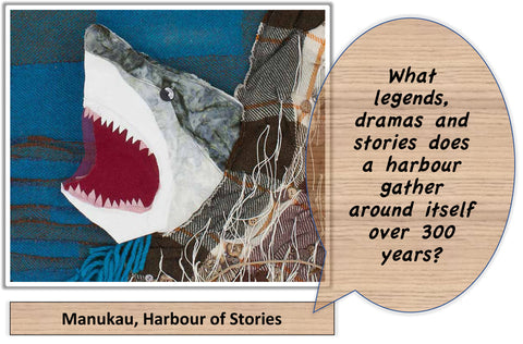 Manuaku, Harbour of Stories: I'm curious question behind the mural