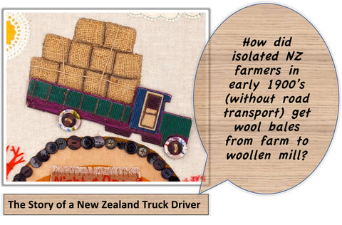 The Story of a New Zealand Truck Driver: I'm curious question behind the mural