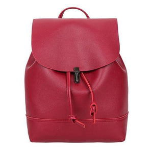 Pure Color Leather School Satchel backpack Bag - Shopnep Store