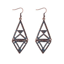 Load image into Gallery viewer, Women's Ethnic Silk Rhombus Alloy Beads Drop Earrings - Shopnep Store