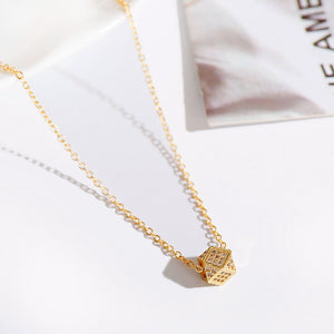 Pendant Necklace with Charming Long Chain