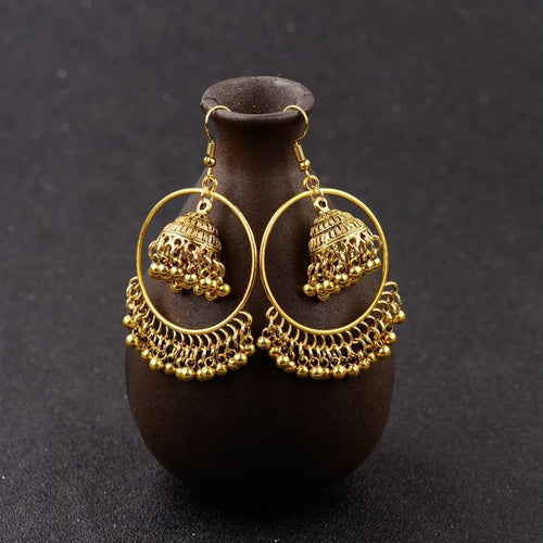 Color Bells Drop Ethnic Earrings - Shopnep Store