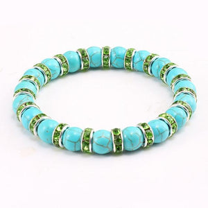 High Quality Natural Blue Turquoises Stone Charms Bracelets - Shopnep Store