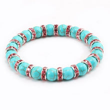 Load image into Gallery viewer, High Quality Natural Blue Turquoises Stone Charms Bracelets - Shopnep Store