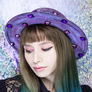The Bejewel circle brim hat