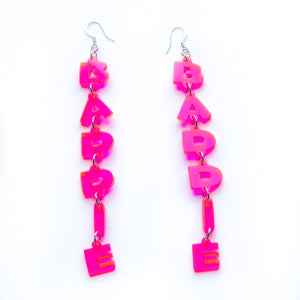 CUSTOMIZABLE pink plexiglass Earrings