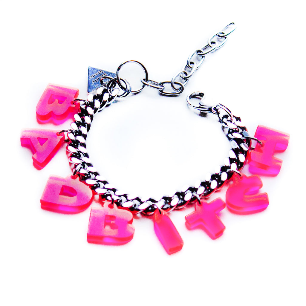 CUSTOMIZABLE pink plexiglass bracelet