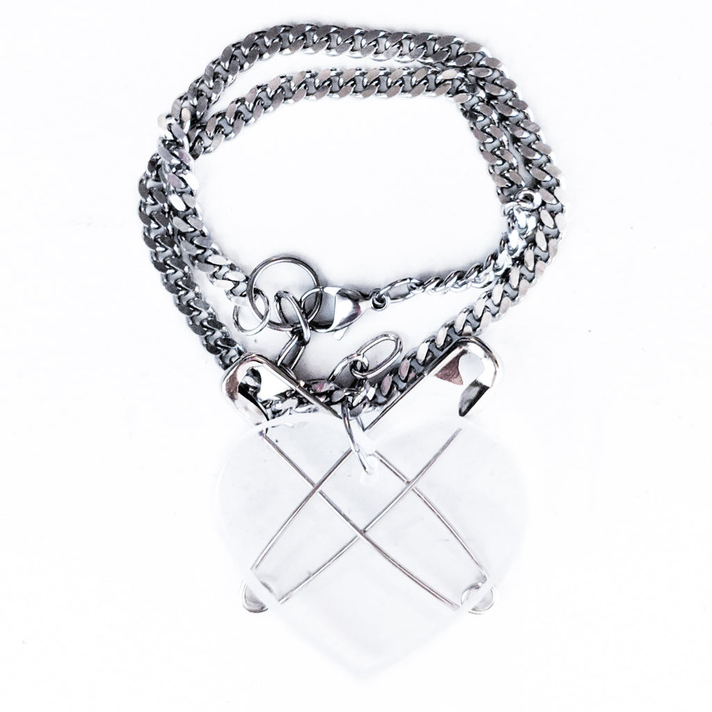 2 - 1 Punk at Heart bracelet & necklace (clear)