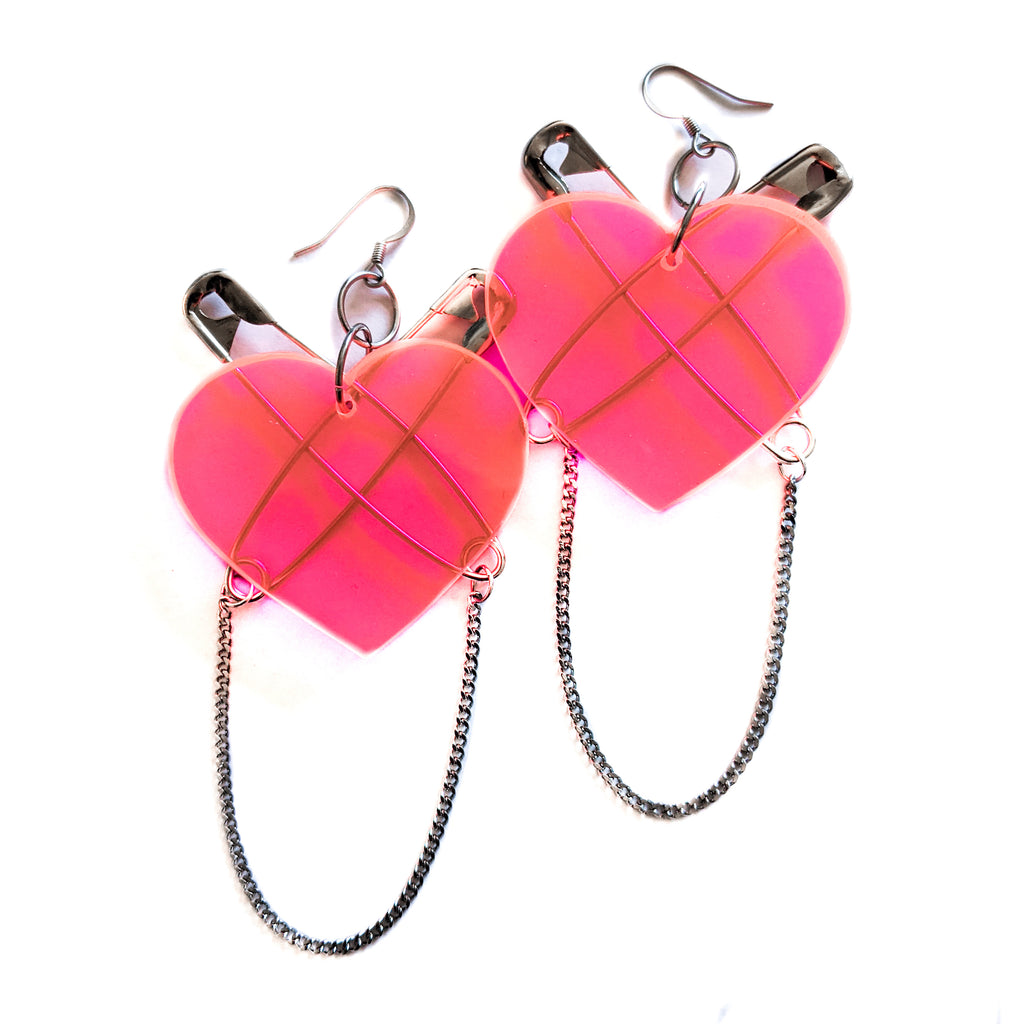 Pink at heart earrings