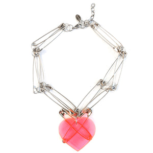 Pink at heart necklace