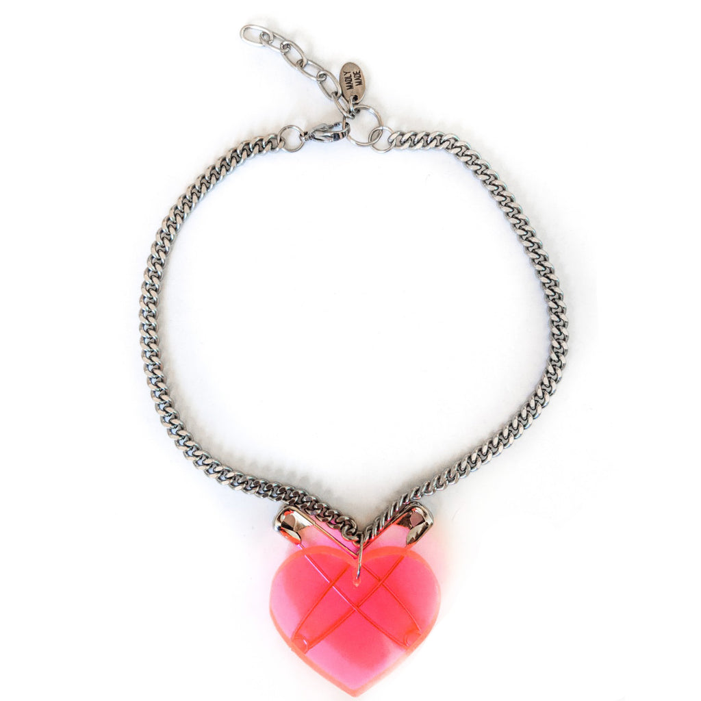 2 - 1 Pink at Heart bracelet & necklace