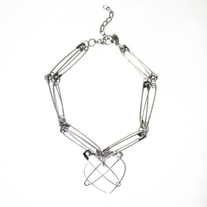 Punk at heart necklace (clear)