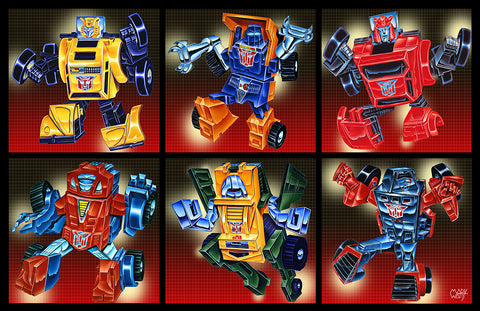 1st G1 Transformers Set produced : By Artist Mark Watts