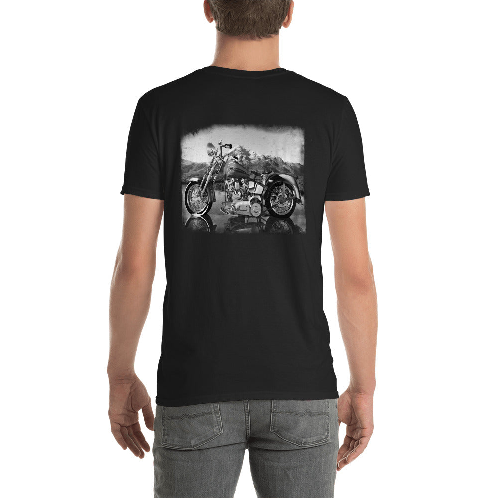 Mountain Ride B&W - Short-Sleeve Unisex T-Shirt