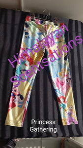 Princess Gathering Kids Leggings