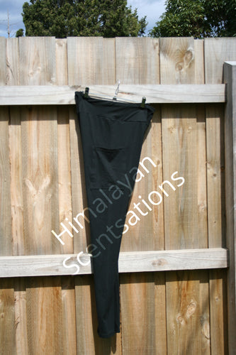 Black Full Length Leggings With Pockets