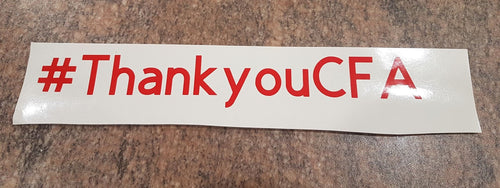#ThankyouCFA Car Window Sticker