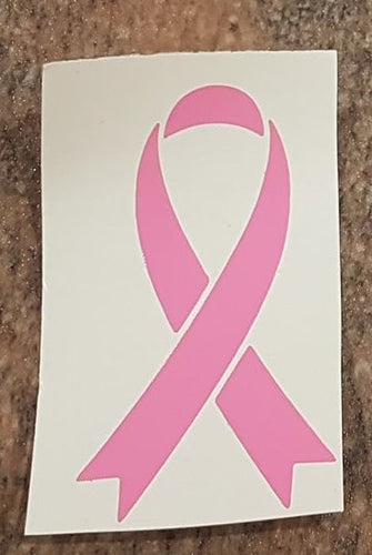 Pink Ribbon Car Window Sticker