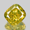 0.61 cts Green Yellow Diamond Cushion Shape Untreated Color