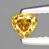 0.18 cts Orange Yellow Diamond Pear Shape Untreated Color