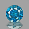 0.76 cts Blue Diamond Round Shape Natural DIamond