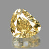 0.52 cts Yellow Diamond Pear Shape Untreated Color