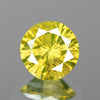 0.32 cts Green Yellow Diamond Round Shape Natural DIamond