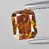 0.35 cts Orange Yellow Diamond Radiant Shape Untreated Color