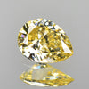 0.28 cts Fancy Yellow Diamond Pear Shape Untreated Color