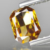 0.44 cts Orange Yellow Diamond Radiant Shape Untreated Diamond