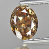 0.85 cts Champgne Diamond Oval Shape Untreated Diamond