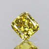 0.23 cts Olive Green Diamond Cushion Shape Untreated Diamond