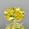 0.33 cts Greenish Yellow Diamond Oval Shape Untreated Color