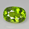 3.36 cts Green Peridot Oval Shape